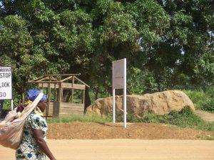 Congolese woman walks in Benin.