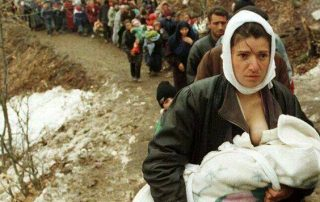 Look at the faces of mothers- you will see Maternal Fright. Balkan War 1991-94
